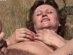 Bushy aged whore gets her pussy fucked
