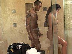 浴室, 茶髪の, 淫乱熟女, お金