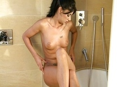 Solo fun in the bathroom