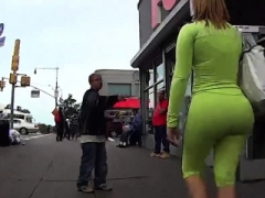 Soaked Fat Tooshie In Spandex