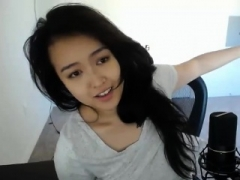 Enthousiasteling, Aziatisch, Chinees, Masturbatie, Alleen, Webcamera