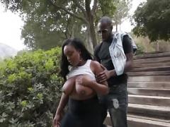 Большая жопа, Черные, Межрасовый секс, На природе
