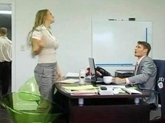 Fabulous Big Tits Milf In Office