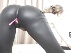 Live camera Bitch In Latex Rubs Her Pink slit
