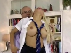 Schoolgirl inexperienced whore gets fucked