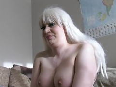 Anilingus casting brit spunked on face by agent