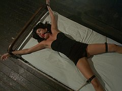 Tied to a bed and used hard