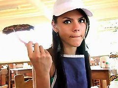 Small Latina Waitress...