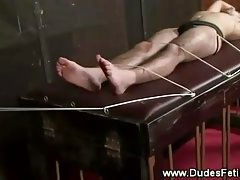 Sub gets roped up for tickle punishment