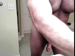 bear cumming and posing
