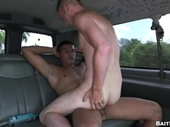 Horny mulatto gay smashes some guy's butthole in reality clip