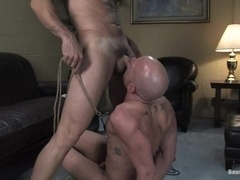Bald fairy gets his smooth ass whipped, toyed and fucked