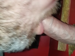 Gloryhole cum in mouth