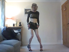 Showinf of my new heels and sexy skirt