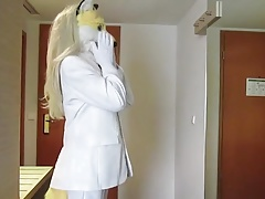white suit fox masturbating