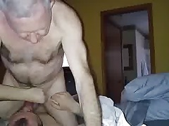 Grandpa cumming in mouth