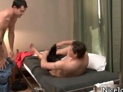 Fully hardcore jocks bang and furthermore give blowjob homo movie