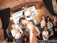 Inked european muscle hunk gangbanged raw