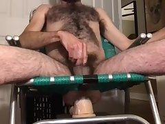 Hirsute rocking chair ass blasting fun