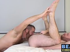 Zack Acland enjoys hairy anal sex with Chris Wydeman