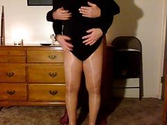leotard lust in pantyhose