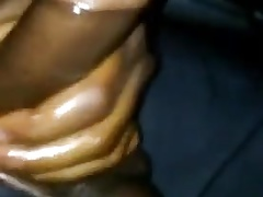 Verbal guy moaning as he busts a solo nutt in his car