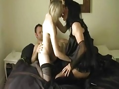 Slutty Sissy Fucking with Married Couple
