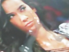 AJ Lee cum tribute 11