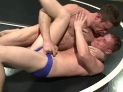 Dean Tucker and Ridge Michaels struggle on a ring and play gay games