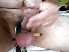 Tight balls dick stroke