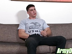 Hot ass Zach with muscular body jerking his big dick for you