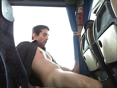 Jerkoff in a bus