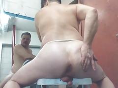 joey D nice curvy butt anal on chair n outdoors