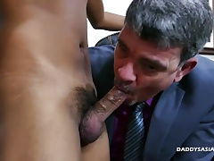 Daddy and Asian Boy Josh Flip Fuck