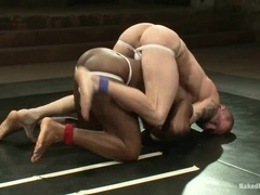 Brenn Wyson makes Jack Hammer suck and ride his dick on a ring