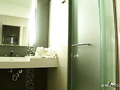 NextDoorEbony Next Level Hunk Shower and Wank