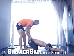 ShowerBait Straight guy shower fuck with gay Casey Everett