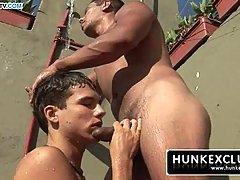 Suck big Brazilian cock