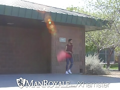 ManRoyale - After park workout fuck with Carson Cruise