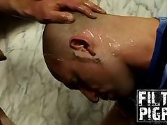 Hunk Austin and horny Aitor plays with anal dildo
