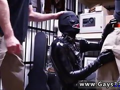 Guy in latex eating ass