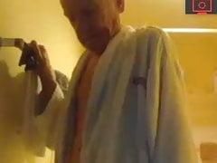 grandpa in the shower
