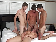 A COUPLE AND TWO FRIENDS FUCKING ON WEBCAM