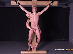 Twink Crucified Uncut Cock BDSM Gay Bondage Whipping