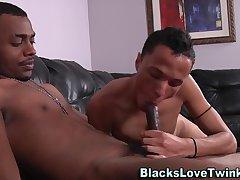 Ebony amateur rides cock
