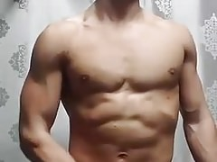 Hot Muscled Twink jerks off