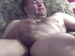 Sexy bear shooting a big load again