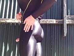 In The Sun Oil Piss Cum