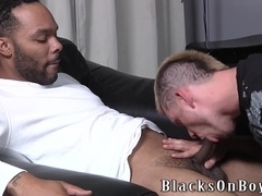 Tattooed gay punk gets his ass smashed by his black buddy