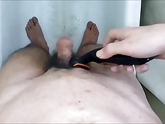 Shaving My Big Thick Sexy Hot Hairy Cock & Balls !!!